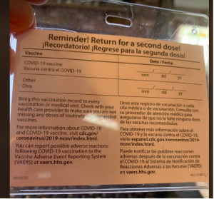 Preserve your immunization card, but do not laminate it.  There are lines to document future vaccines. You may need this for travel, and medical records.